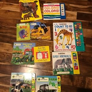 Lot of 10 Books John Deere Tractors, Baby Bear